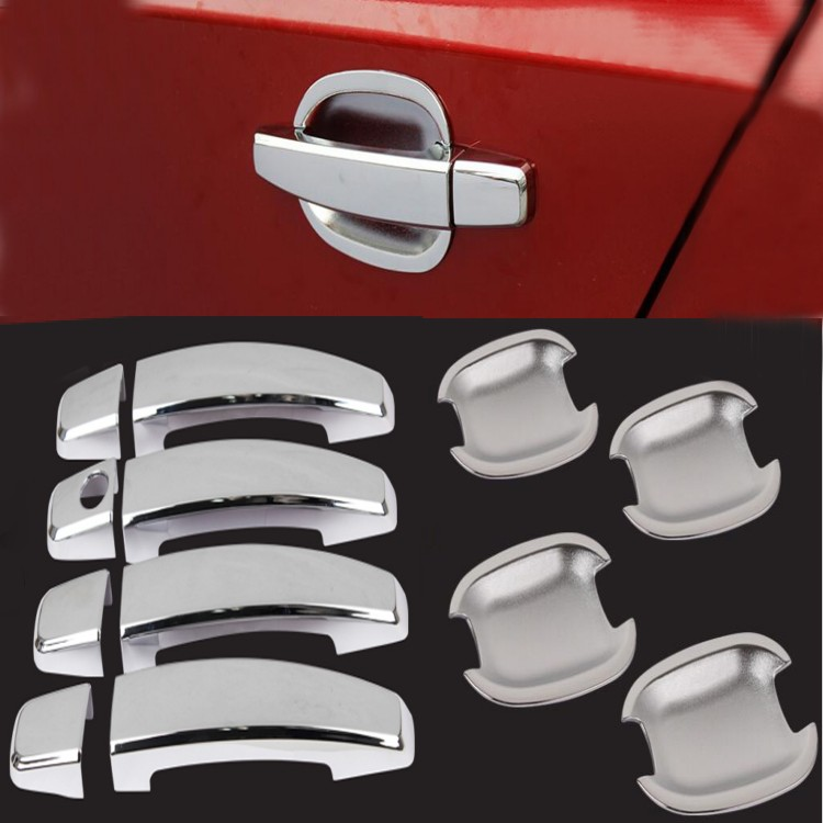 Car Exterior Decor New Chrome Door Handle Cover + Cup Bowl combo for Chevrolet Cruze 2009 2010 2011 2012 2013 2014 2015