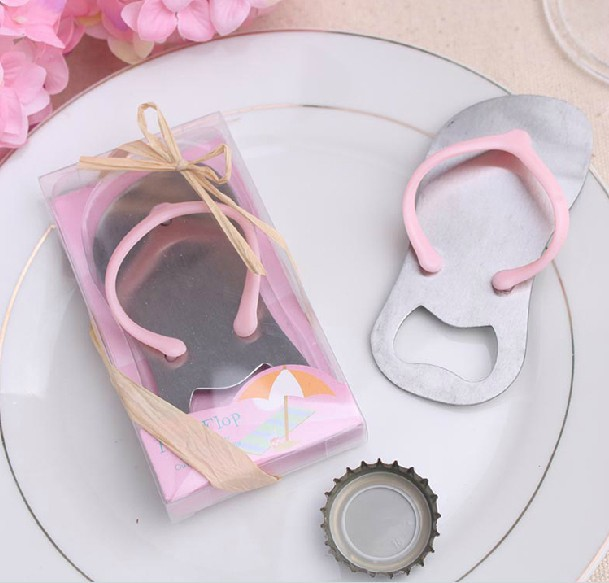 10pcs /lot Free Shipping Creative novelty items flip flops bottle opener wedding favors,gift packaging,giveaways for guest