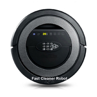 6 In 1 Multifunction Intelligent Automatic Robot Vacuum Cleaner With V Shaped Rolling Brush UV Sterilize