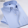 New Arrival Short Sleeve Brand Men's Classic Style Shirts Men Striped Dress Shirts Business Formal Shirts Casual Shirt For Men