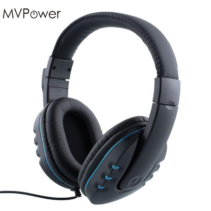 MVpower 1.2m Cable Wired Gaming Headphone with Microphone Mic Stereo Bass Hifi Earphone Computer PC Game MP3 Player Headset