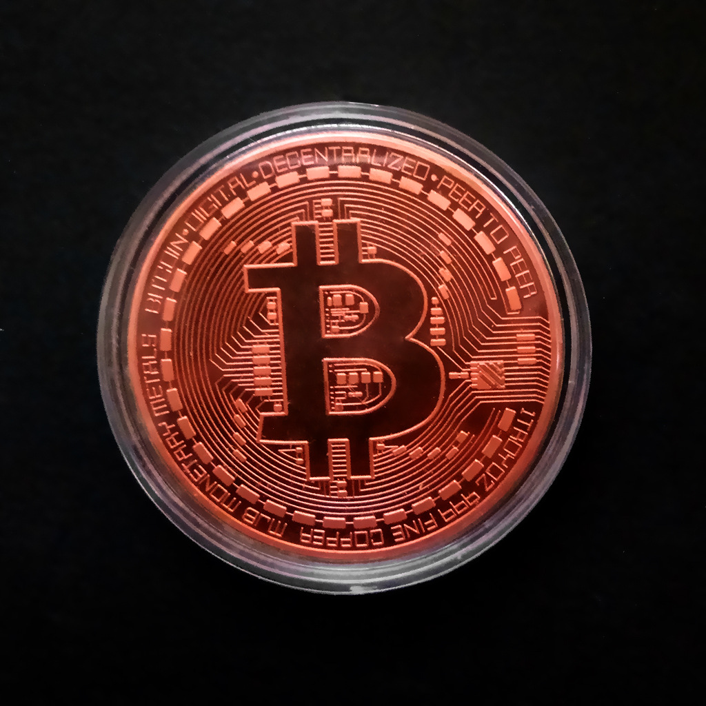 Gold Antique Bitcoin Collectible Art Commemorative Coin Collectible Gift Lucky Gold Plated Coin Bit BTC Metal Imitation40x1.5mm 1
