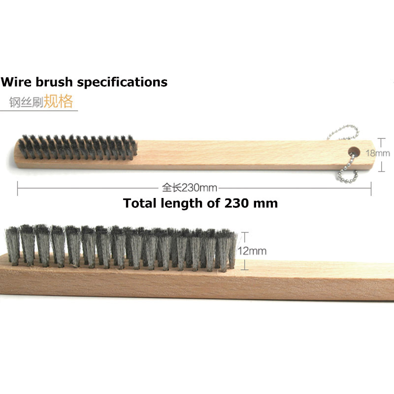 L230mm Standard Wire D0.04mm High Quality Elastic Steel Wire Brush For Anilox Roller Cleaning