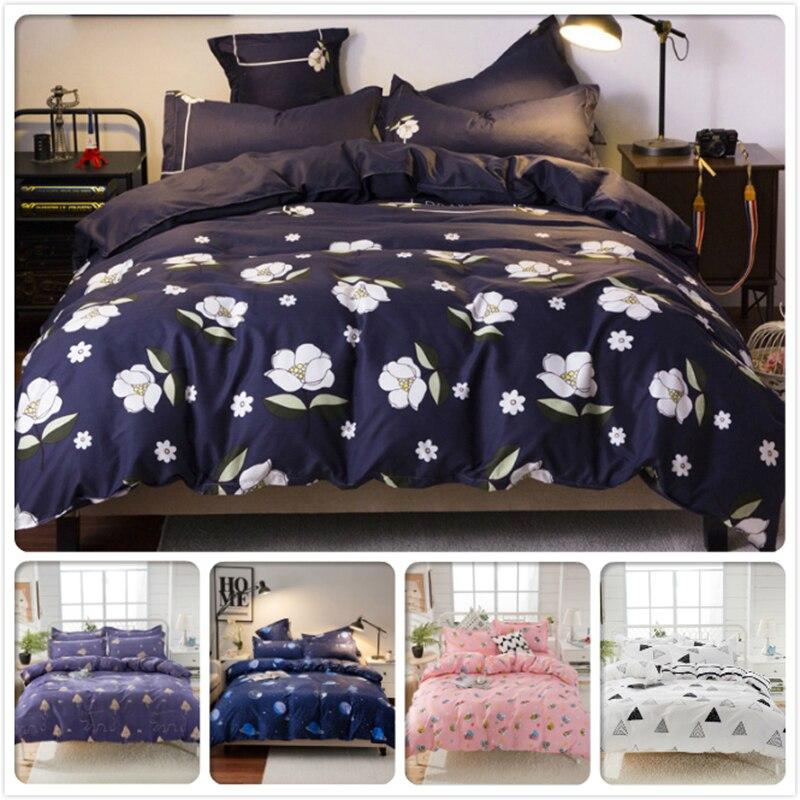 Classic Floral Pattern Duvet Cover Soft Cotton Bedding Set 3pcs 4pcs Kid Child Bed Linen 1.2m 1.35m 1.5m 1.8m 2m Queen King Size