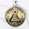 Старинные символ масонской иллюминаты античная печать иллюстрации плакат стекло ожерелье мода себе колье ожерелье