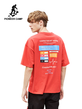 Pioneer Camp Red Fashion Streetwear Loose Men T shirt  Cotton Short Sleeve Tshirt Male too large ADT902166