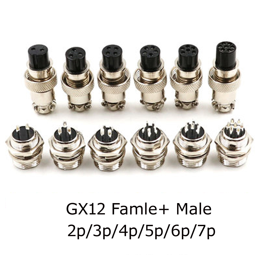 GX12 GX16 GX20 2/3/4/5/6/7/8/9/10/11/<font><b>12</b></font>/13/14/15P <font><b>Pins</b></font> Female Male Air Aviation Connectors Power <font><b>Cables</b></font> Electrical Plug Socket image