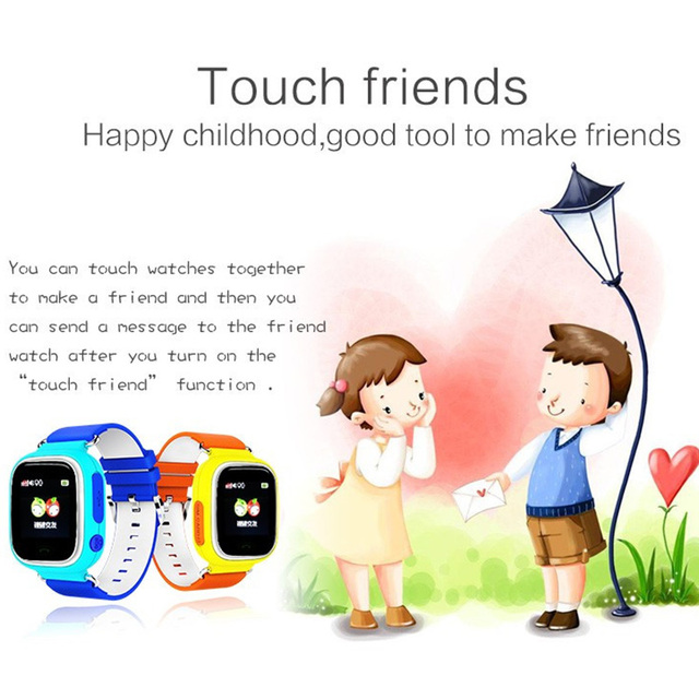 Q90 GPS Child Smart Watch Phone Position Children Watch Anti-lost SOS Call Location Tracker for Smart Kids Safe Watch 4