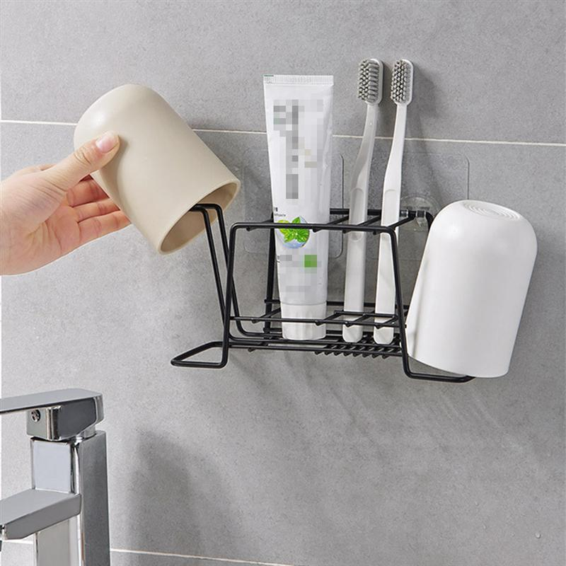 Bathroom Toothpaste Toothbrush Holder Durable Toiletries Storage Rack Shelf Organizer Bathroom Bedroom Kitchen Accessories-in Toothbrush & Toothpaste Holders from Home & Garden