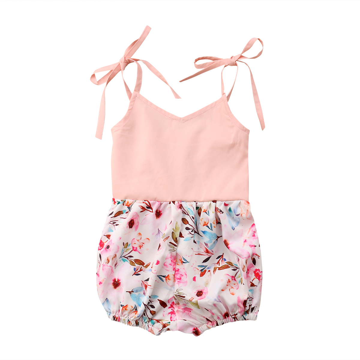 Pudcoco Newborn Baby Girl Flower   Romper   Jumpsuit Clothes Outfit 0-24M
