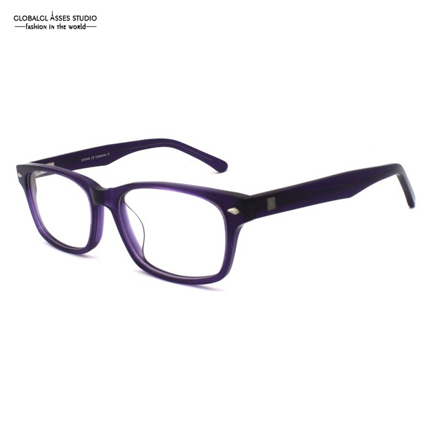 f0ccc05bcd0 Brand Designer Fantasy Big Square Lens Acetate Frame Women Dark Purple  Eyewear Flex Hinge Optical Glasses