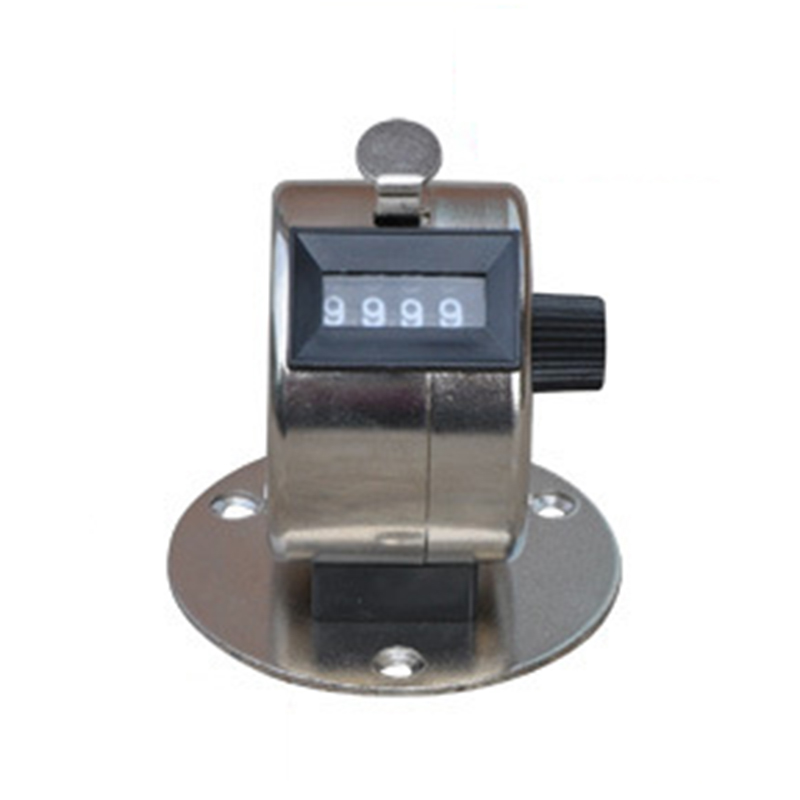 JQ14A 4 digit counters hand hold counter count passenger flow counter four Muslim counters with base