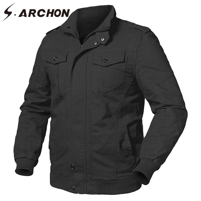 S. ARCHON Весна ВВС США тактические брюки карго куртка для мужчин Военная униформа Стиль Хлопок пилот куртки мужской армейский летный бомбер куртки пальто для будущих мам