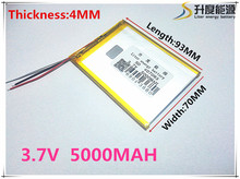brand new battery 407093 3.7V 5000mAh tablet battery with Protection Board For Tablet PC U25GT