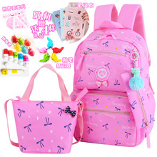2019 Children School Bags Teenagers Girls Printing Rucksack school Backpacks 2pcs/Set kids backpack schoolbags mochila escolar japanese anime masked rider kamen rider gaim printing canvas military backpack mochila escolar children teenagers school bags