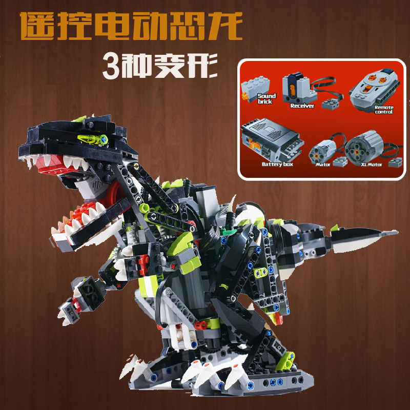 Technic Lepin 24010 792pcs 3 in 1 Dinosaur RC Sound Function building blocks 4958 Bricks toys for children 792pcs compatible with lego technic creative lepin 24011 1344pcs 3 in 1 highway transport building blocks 6753 bricks toys for children