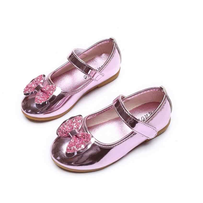 Mùa Hè 2020 Nữ Trẻ Em Da Giày Xăng Đan Bé Gái Ngọt Ngào Giày Công Chúa Bé Nhảy Giày Tập Đi Cho Bé Dép Bé Gái Giày