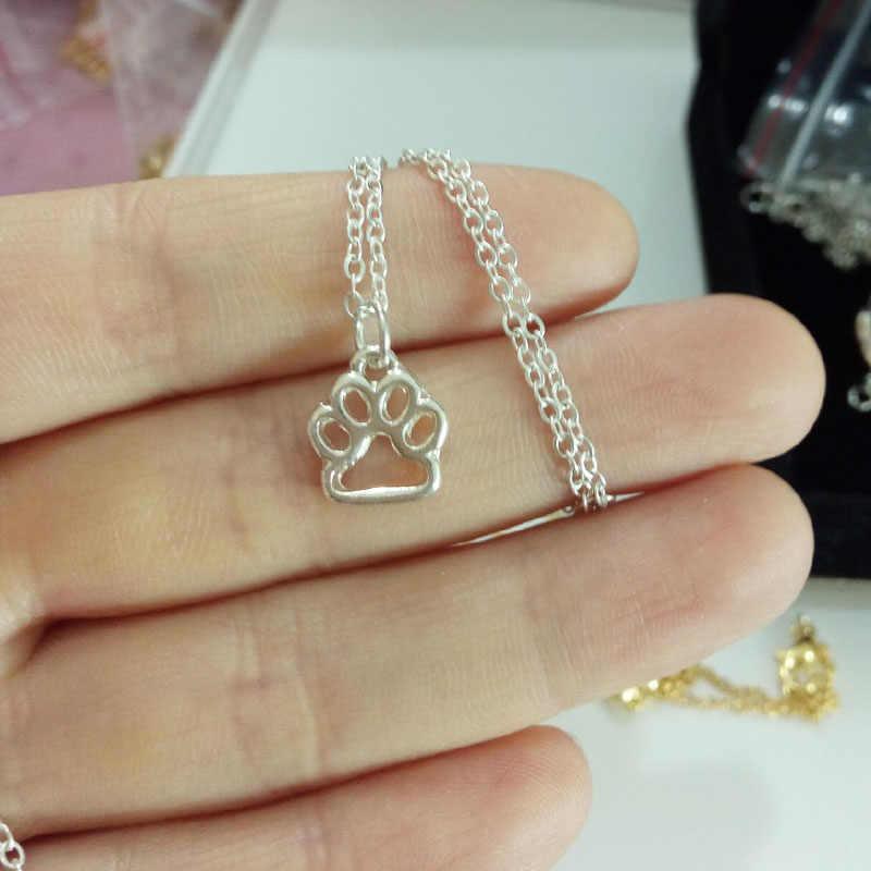 Hzew изысканные щенячьи лапы печати любовные памятные ожерелья домашних животных собака кулон с печатью Лапы Ожерелье Охотник Рождественский подарок без свинца