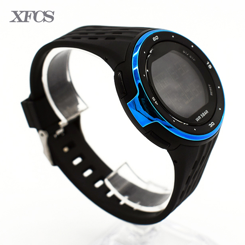 XFCS waterproof wrist digital watches for men digitais automatic watch running men man digitales clock streamline