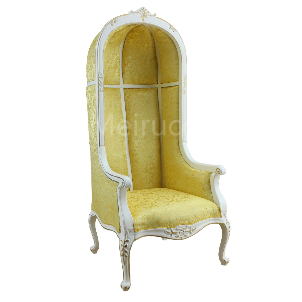 Dolls Furniture model 1:6 scale Distinctive Neoclassical armchair Eggshell chair High back