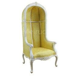 Poppen Meubels model 1:6 schaal Onderscheidend Neoklassieke fauteuil Eierschaal stoel Hoge rug