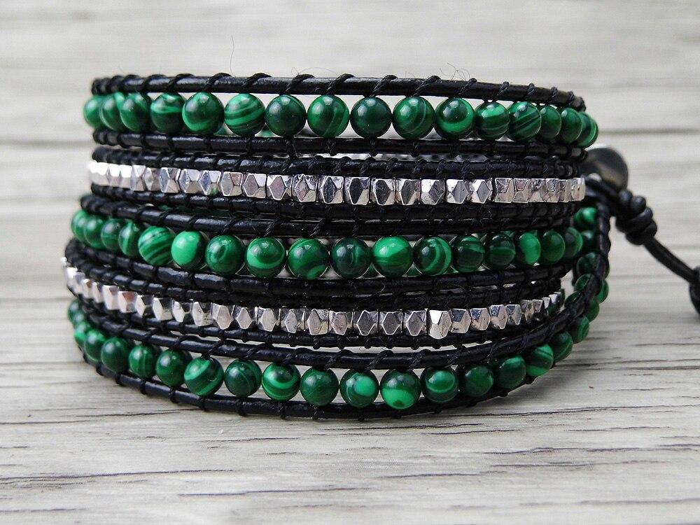 Green Malachite Beads...