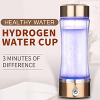 420ml SPE/PEM Rich Hydrogen Water Generator Mineral Water Bottle Dual Use Water Ionizer Maker Antioxidant Alkaline Water Pitcher