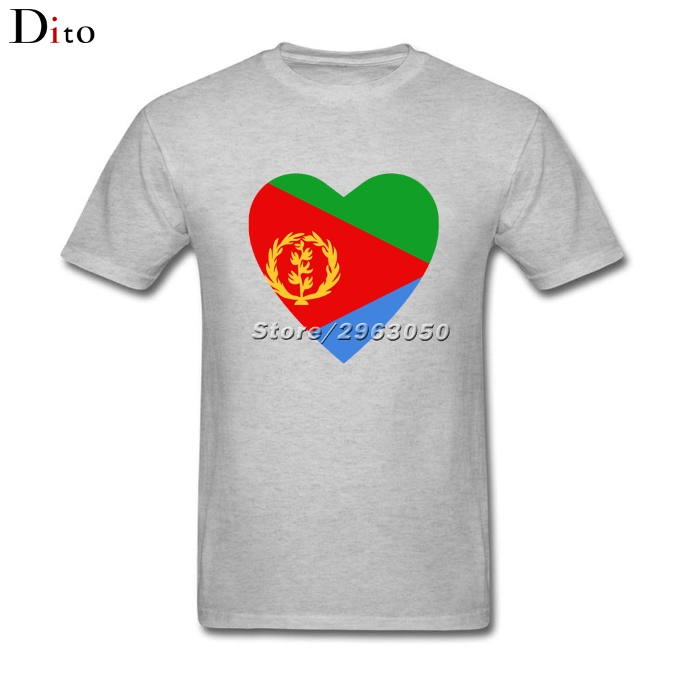 ad4ba1da115 Eritrea Flag Heart Tee Shirt Men Male Swag Custom Short Sleeve Valentine s  3XL Couple Camiseta