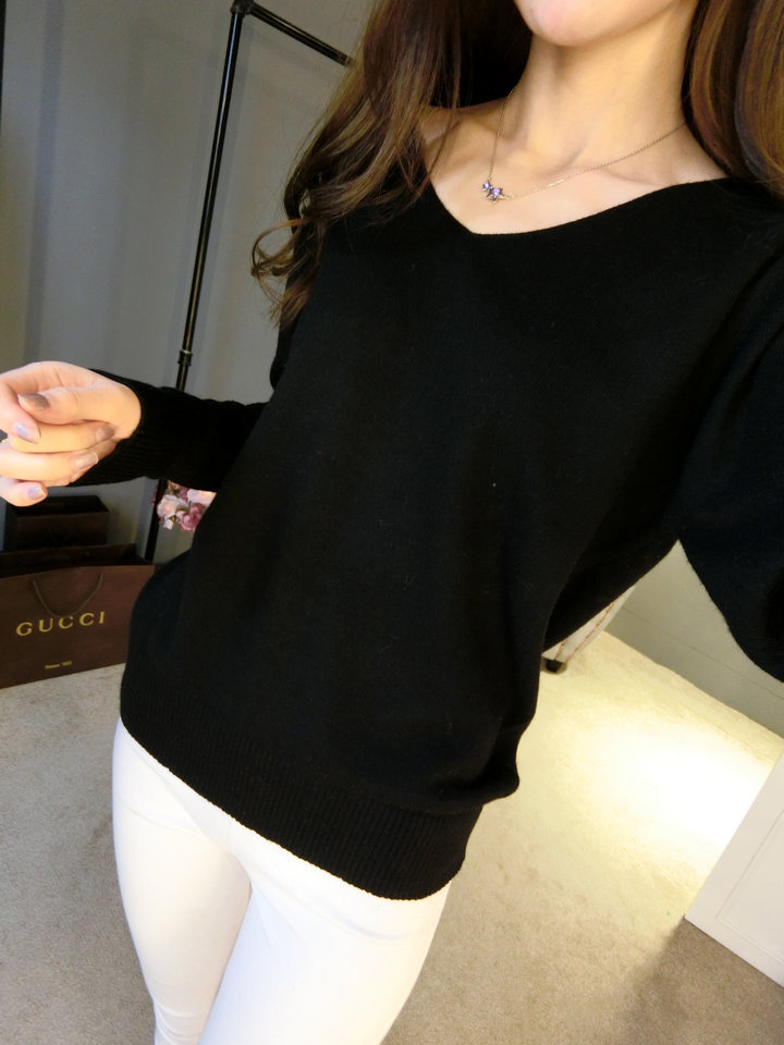 LOWEST-PRICE-Fashion-Women-s-Pullover-Sweater-Lady-V-neck-Batwing-Sleeve-Cashmere-Wool-Knitted-Solid