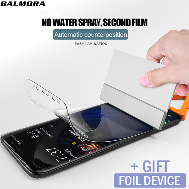 BALMORA Hydrogel Film Full Cover For Samsung Galaxy S7edge S8 S9 Note8...