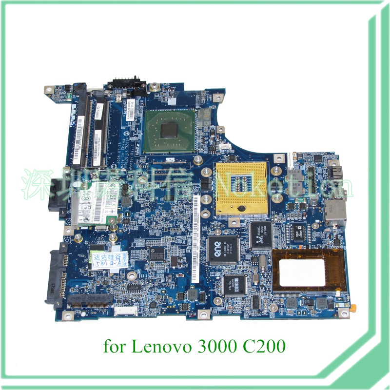 NOKOTION FRU 42W7673 HDL20 LA-3281P laptop motherboard For lenovo 3000 C200 14'' 945GM DDR2 Mainboard full test 41w1389 hdl20 la 3281p for lenovo 3000 c200 laptop motherboard intel 945gm ddr2 mainboard full tested