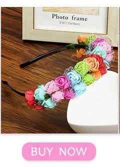 Haimeikang cor Sólida Rosa Flor HairBand Elastic