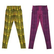 THINKTHENDO Slim High Waist Yoga Pants Woven Printed Exercise Elastic Fitness Sports Leggings Trousers