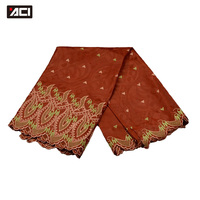 ACI Free Shipping! African Fashion Bazin Riche Embroidery Dress Damask Fabric,5 Yards Nigeria Jacquard Guinea Brocade Fabric