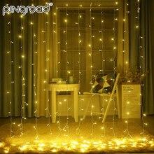 3 м* 3 м 300 светодиодный s шторы полосы светодиодный свет гирлянды легкие гирлянды сосулька капля сказочные огни праздничное свадебное украшение мерцающие огни PD070