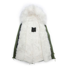 High guality lengthy type wool coat fur Collar male  white wool jacket