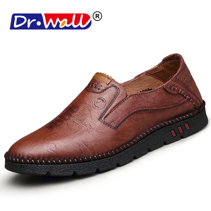 Big size 38-44 slip on casual men loafers spring and autumn mens moccasins shoes genuine leather men's flats shoes New slip on casual men loafers spring and autumn mens moccasins shoes genuine leather men s flats shoes high quality zapatos hombre