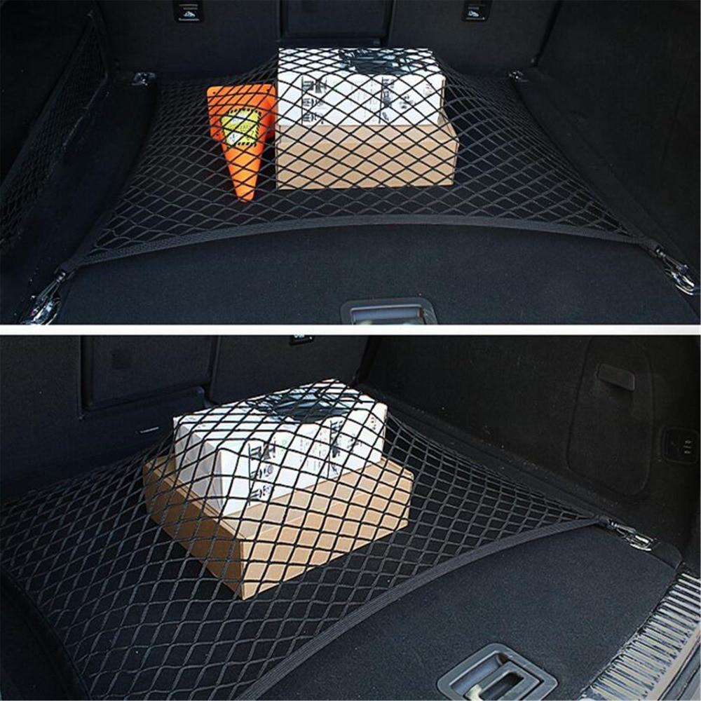 Car Trunk Cargo Mesh Net 4 Hook Car Luggage For Nissan Tiida Sunny March Murano Geniss,Juke,Almera/Infiniti all Series