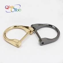 4 pcs D Ring Angle Edged D-rings Loop Ring for Buckle Straps Bags Belt fit 1 Inch Webbing DIY bag accessories 4 Color Removable