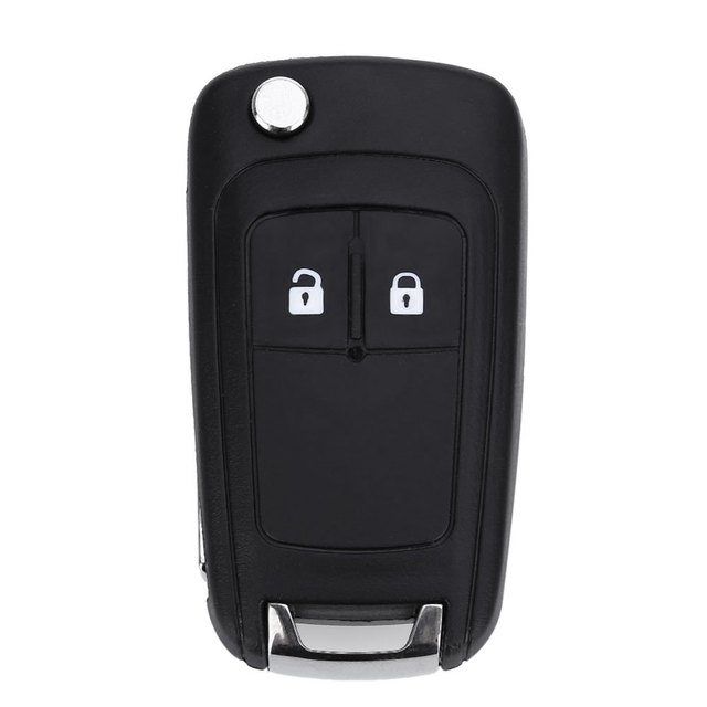 E47 Folding Car Remote Key Flip Holder Case Shell 2-button Protecting Cover Suitable for Opel With Rubber Texture Material