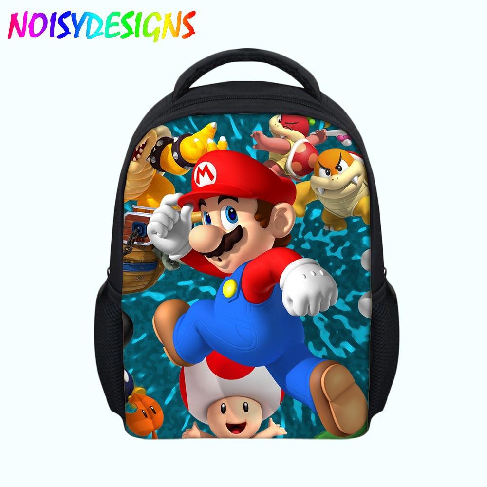 Men's Bags Super Mario Bro School Bag Amiibo Children Kids Student Bookbags Cute Mario Backpack Game Primary School Rucksack To Have A Unique National Style