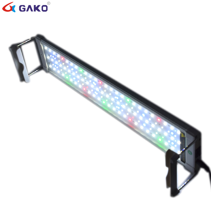 50 75cm 18W Colorful Aquarium LED Lighting Fish Tank Light Lamp With Extendable Brackets 90 LEDs
