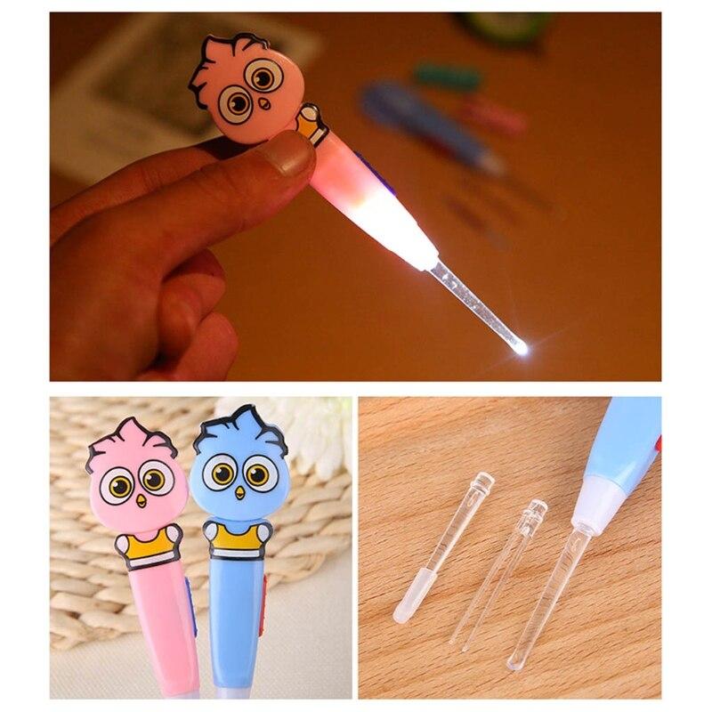 1 Satz Baby Ohr Pick Cartoon Led-licht Reinigen Wachs Entferner Baby Pflege Sicherheit Kürette Grade Produkte Nach QualitäT