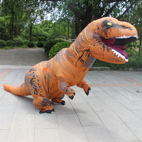 2017 Inflatable Dinosaurs Halloween Costumes Adult Clothing Jurassic Park Dinosaur Tyrannosaurus Rex Free Shipping