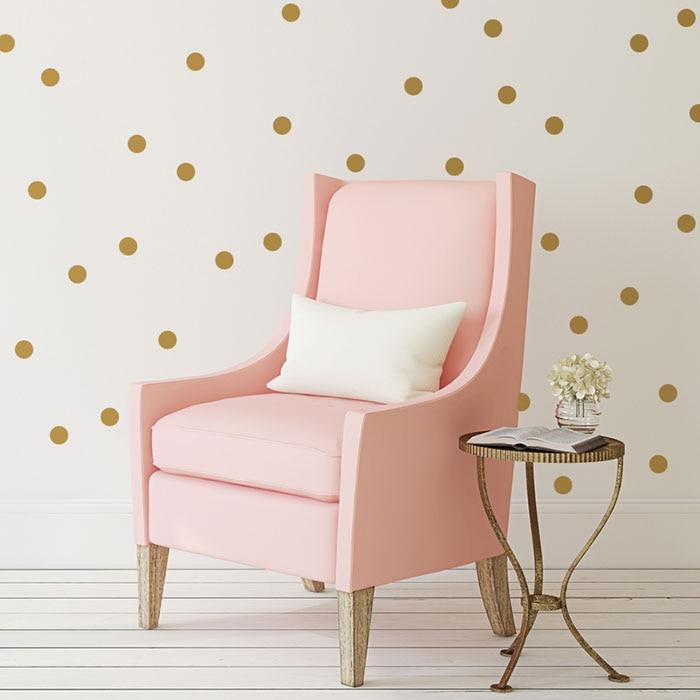 Ouro bolinhas adesivo de parede, pontos decalque de parede crianças quarto, ponto adesivos de parede para quartos de crianças, decalque de vinil decoração para casa p1