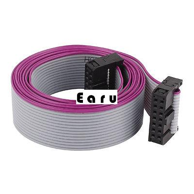 2.54mm Pitch 14Pin 14 Wire F/F IDC Connector Flat Ribbon Cable 118cm 4 pcs 2 54mm pitch f f m f 10p jumper cable wire connector 30cm
