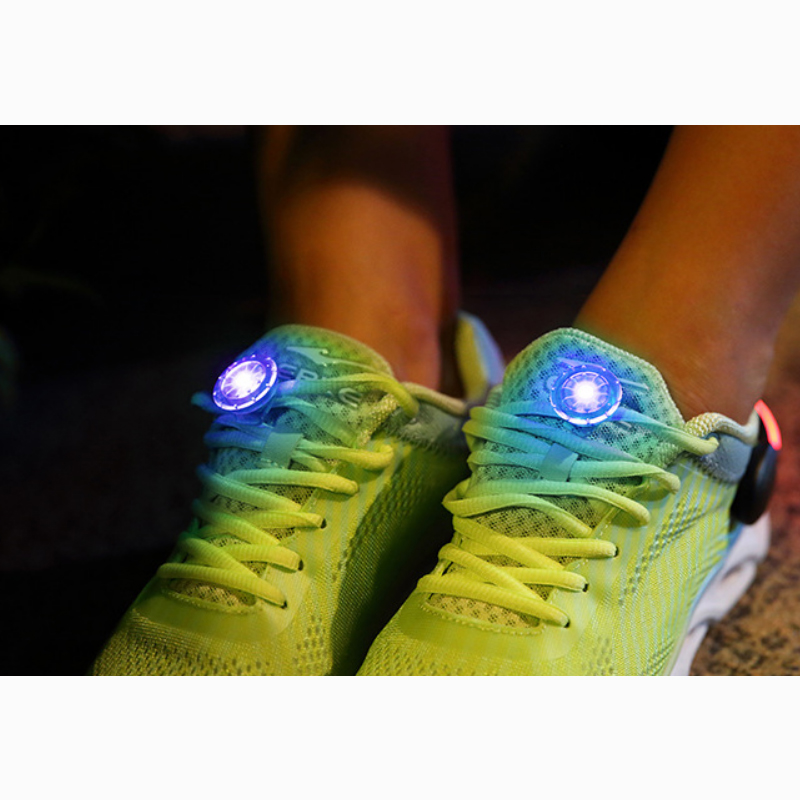 LED Running Outdoor Mini Flashing Torch Night Walking Safety Warning Light Lamp New