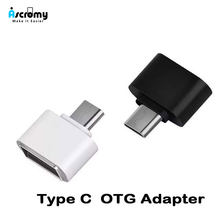 Ascromy USB C Adapter OTG do Huawei P20 Lite Xiaomi Redmi Note 7 Pro Samsung Galaxy S9 S8 Plus Oneplus 6 6 T 5 typu C telefon USBC(China)