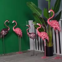Promotion sale Party Decoration Ornament metal Flamingo Prop Decoration