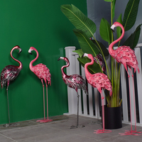 Promotion sale Party Decoration Ornament metal Flamingo Prop Decoration